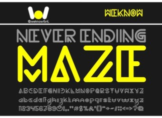 Never Ending Maze Font
