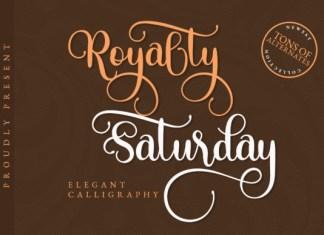 Royalty Saturday Font