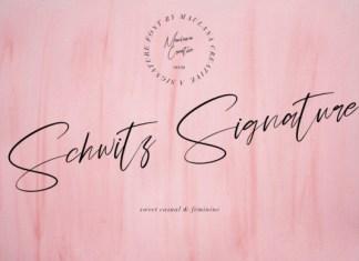 Schwitz Signature Font