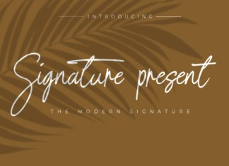 Signature Present Font
