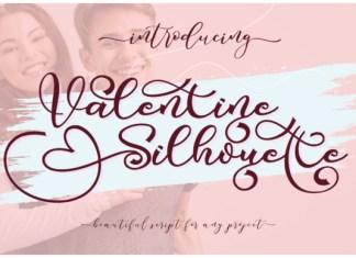 Valentine Silhouette Font
