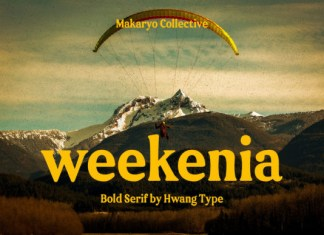 Weekenia Font