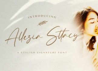 Allezia Sttacy Font