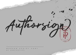 Authorsign Font