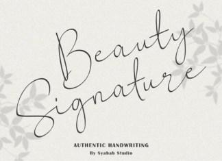 Beauty Signature Font