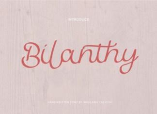 Bilanthy Font