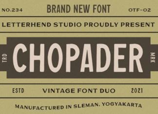 Chopader Font
