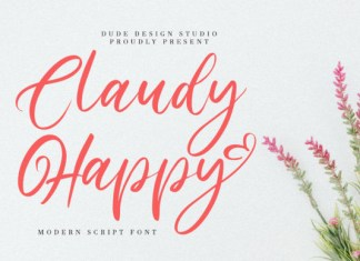 Claudy Happy Font