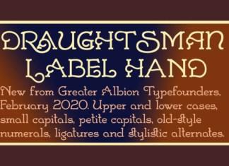 Draughtsman Label Hand Font