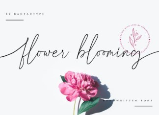 Flower Blooming Font