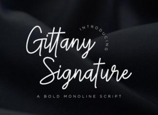 Gittany Signature Font