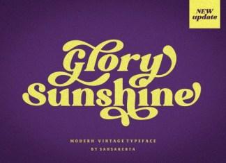 Glory Sunshine Font