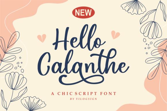 Hello Calanthe Font