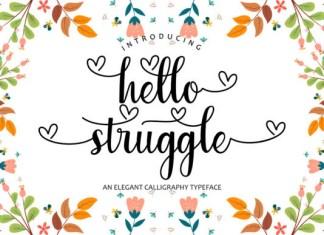 Hello Struggle Font