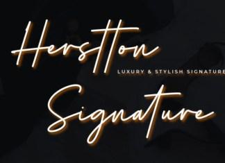 Herstton Signature Font