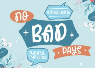 No Bad Days Font