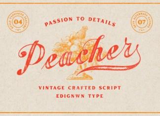 Peacher Font