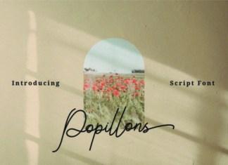 Popillons Font