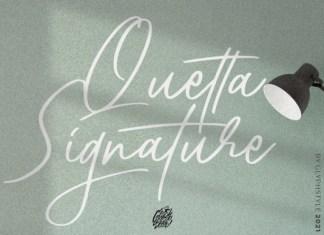 Quetta Signature Font