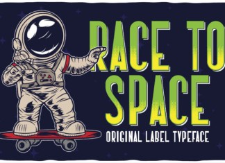 Race to Space Font