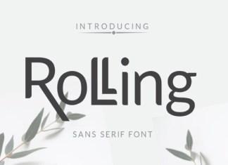 Rolling Font