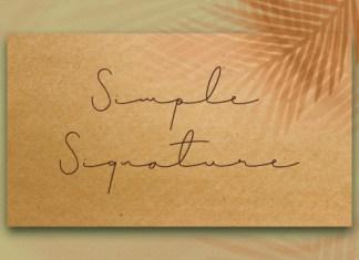 Simple Signature Font