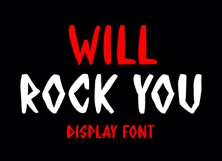 WILL ROCK YOU Font