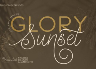 Glory Sunset Font