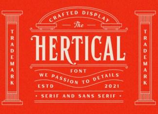 Hertical Font