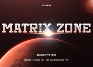 Matrix Zone Font