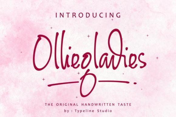 Olliegladies Font