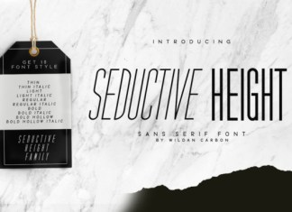 Seductive Height Font