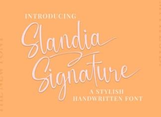 Slandia Signature Font