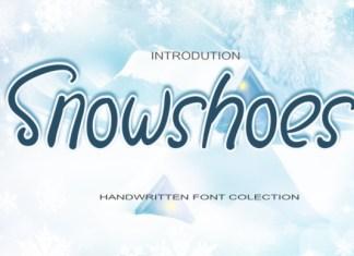 Snowshoes Font