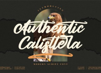 Authentic Calisttera Font