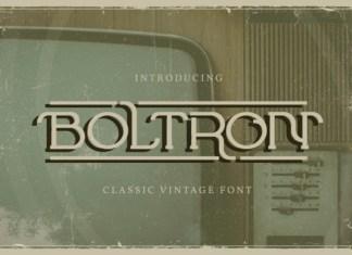 Boltron Font