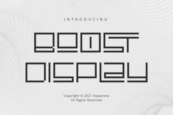 Boost Display Font
