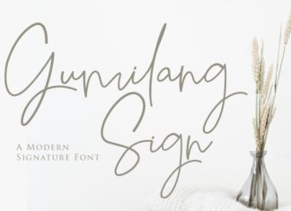 Gumilang Sign Font