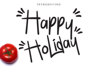 Happy Holiday Font