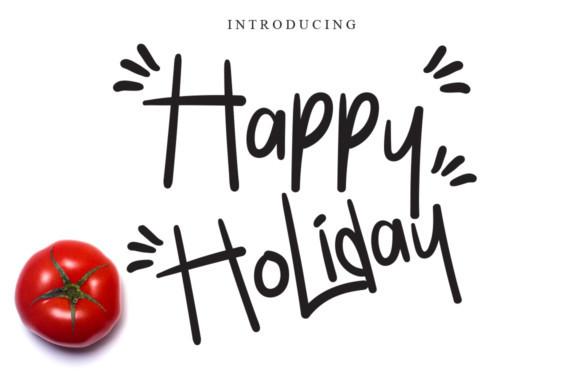 Happy Holiday Font