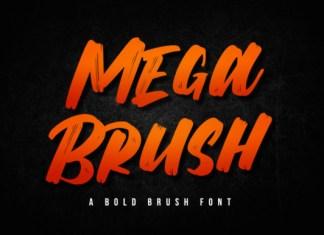 Mega Brush Font