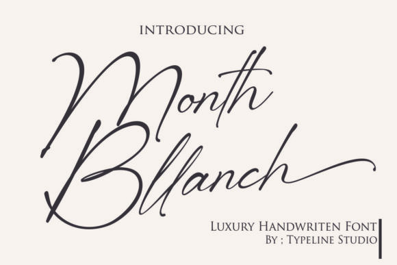 Month Bllach Font