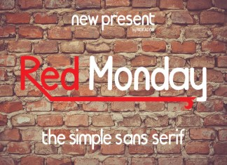 Red Monday Font