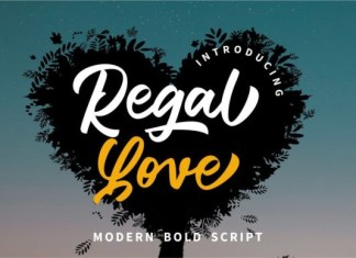 Regal Love Font