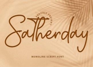 Satherday Font