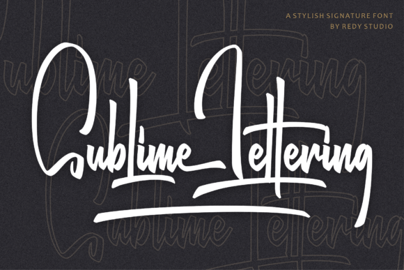 Sublime Lettering Font