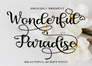 Wonderful Paradise Font
