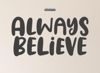 Always Believe Font