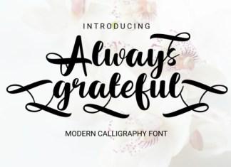 Always Grateful Font