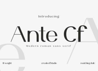 Ante Cf Font